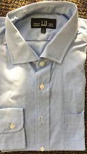 NWT Dunhill Blue And White Men's Dress Shirt Sz 17