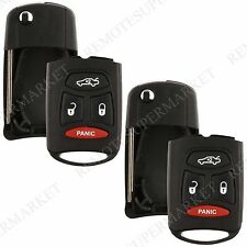 2 Replacement for Commander Cherokee Remote Car Key Fob Kobdt04a Shell Flip Case