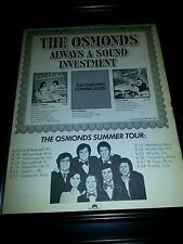 The Osmonds Rare 1977 Original Classic Tour Promo Poster Ad Framed!