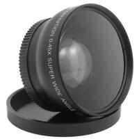 52MM 0.45X Wide Angle Macro Lens For Nikon Camera D7000 D5300 D5200 D5100 D3200