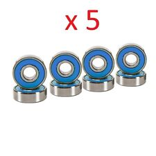 Abec 7 Skateboard Bearings for Deck and Hardware 5 Set of 8 Pcs Blue