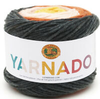 Lion Brand Yarn 221-611 Yarnado Yarn, Perfect Storm, Medium Wt; 187 Yds One Cake