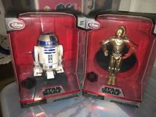 "STAR WARS DISNEY C-3PO & R2-D2 DIE CAST 6"" ELITE BLACK SERIES LOT 2 NEW FIGURES"