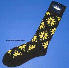 NWT Polo Ralph Lauren Black & Yellow Snowflake Lambswool Blend Socks FINAL SALE