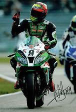 Chris WALKER The Stalker Autograph Signed Kawasaki Race Winner Photo AFTAL COA