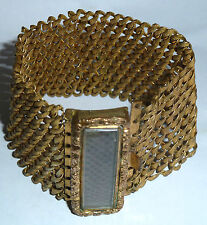 Woven Hair Openwork Bracelet A Georgian Gold Tone