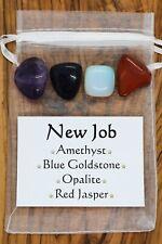 New Job Crystal Gift Set Opalite Amethyst Red Jasper Blue Goldstone Opportunity