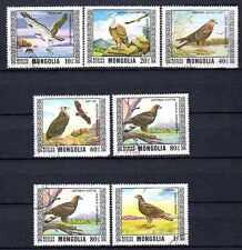 Oiseaux Mongolie (31) série complète de 7 timbres oblitérés