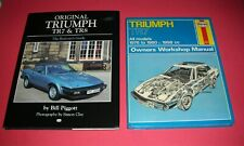 ORIGINAL TRIUMPH TR7 &TR8 Restorer's Guide + Owners Workshop Manual NEW BOOKS !