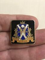 Vintage Troon Bowling Club Enamel Badge. Pin Badge Metal.