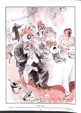 Bert Thomas cartoon.1927.Champagne.Drunk.George.Restaurant.Costume.Fez