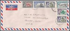 Uk Gb Gilbert & Ellice Islands Us 1952 Air Mail Cover To Denver Colorado