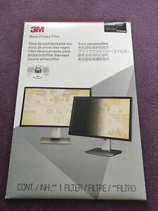 3M Black Privacy Filter 24.0  PF240W9B  Brand New