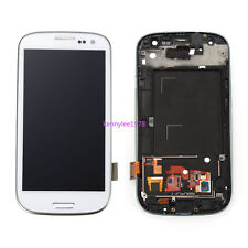 Per Samsung Galaxy S3 i9300 LCD Display Touch Screen Schermo+frame Bianco+tool