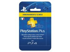 SONY PSN PS PLUS HANGING CARD 12 MESI PLAYSTATION NETWORK - CARDS/DLC