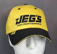 🚙 JEGS High Performance Parts Men's Strap Back Hat Adjustable Cap Yellow Black