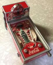 1998 Coca Cola Pinball Machine Bank With Light, Sounds, Working Pinball Action