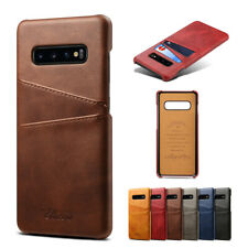 For Samsung Galaxy Note 10+ / S10 Plus / S10e Leather Wallet Card Slot Back Case