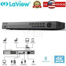 8 Channel 4K UHD Digital H.265 Surveillance NVR 8 PoE Ports DVR No HDD Included