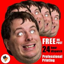 20 PERSONALISED PHOTO FACE MASK KITS FOR STAG & HEN NIGHT BIRTHDAY PARTY !