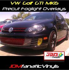10 11 VW MK6 GTI Fog light JDM EDM yellow Overlays TINT
