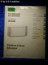 Sony Bedienungsanleitung KV 28WS3D / 32WS3D Color TV (#1752)