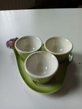 Vintage 1961 egg cup holder, Made in W. Germany