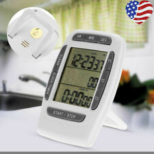 3 Channels LCD Digital Kitchen Timer Countdown Cooking Multi Purpose Alarm US