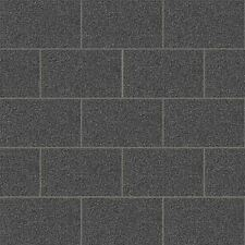CROWN LONDON TILE GLITTER WALLPAPER BLACK - M1055 SPARKLE