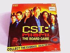"""CSI=MIAMI""-THE BOARD GAME, 2005, SBG GAMES, COLLECT EVIDENCE+SOLVE CRIMES,100%"