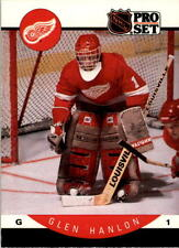 1990-91 PRO SET HOCKEY GLEN HANLON CARD #72 DETROIT RED WINGS NMT/MT-MINT