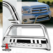 Chrome 3 Front Bumper Bullpush Bar Brush Grille Guard For 00 07 Tundrasequoia