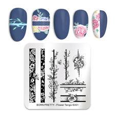 BORN PRETTY Nail Stamping Plates Rose Flower Tango Nail Art Image Print Template