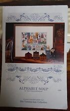 Vtg Trice Boerens cross stitch chart Alphabet Soup sampler very cute