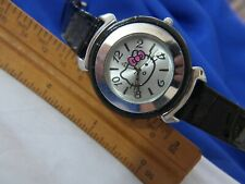 HELLO KITTY SANRIO HK1935 SILVER TONE WATCH, NEW BATTERY A10