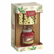 NEW Yankee Candle Magical Christmas Morning Small Jar Candle and Shade Gift Set