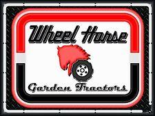 WHEEL HORSE GARDEN TRACTORS DEALER STYLE NEON EFFECT PRINT BANNER SIGN ART 4 X 3