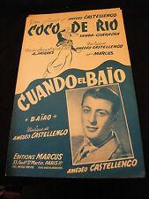 Partition Coco de Rio Castellengo Marcus Cuando el Baio Music Sheet