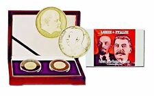 2 Coin Set  Of The Fathers Of The Russian Revolution, Lenin & Josef Stalin,Boxed