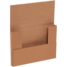 Aviditi Brown Kraft Easy Fold Mailing Boxes 9 58 X 6 58 X 1 14 Inches Pack