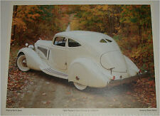 1934 Packard Sport Coupe car print (white)
