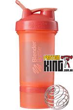BLENDER BOTTLE PROSTAK 500ML CORAL PROTEIN SHAKER CUP BPA FREE PRO STAK 16 OZ