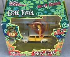 Rat Fink Racing Champions MOD RODS Figure Doll Ed Roth Big Daddy 2000 Woody Car