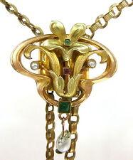 Art Nouveau Chaîne De Montre Perle