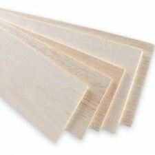 UK - 10x Balsa Wood Board 31x10cm, 4mm thick. Models and crafts