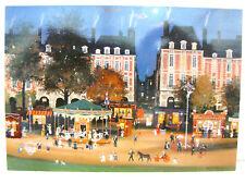 MICHEL DELACROIX Fete foraine place des Vosges PARIS FRANCE POST CARD