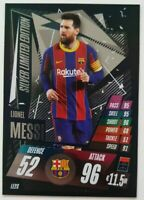 2020/21 Match Attax UEFA - Lionel Messi Silver Limited Edition LE2S Barcelona