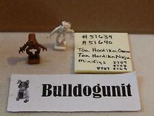 Lego Bionicle 51639 51640 Brown White Minifig Lot Toa Hordika Onewa Nuju