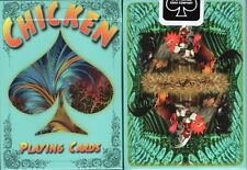 Chicken Playing Cards Poker Size Deck USPCC Rooster Custom Limited Edition New