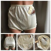 NOS RARE MERVYNS SILKY Nylon Panties Butter Soft Crotch Hi-Cut Panty Briefs Sz 6